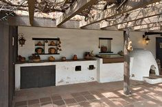 Cooking was done in the courtyard at the Avila Adobe