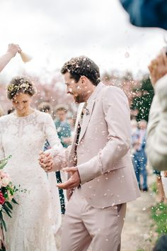 blush groom's attire | m&j photography | image via: rock my wedding. For the fearless authentic, creative bride to be, inspiration for planning a wow-factor wedding.
