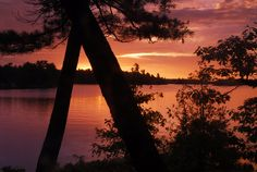 stoney lake sunset Calming Photos, Stony, Ontario, Life Is Good, Canada, Celestial, Spaces, Sunset, Outdoor