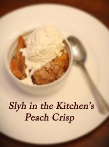 Peach Crisp! (instead of cobbler) for #NationalPeachCobblerDay