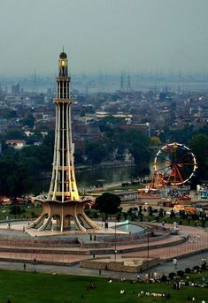 Minar-e-Pakistan (Urdu: مینار� پاکستان) is a national monument located in Lahore, Pakistan. The resolution eventually helped lead to the emergence of an independent Pakistani state in Pakistan Zindabad, Pakistan Travel, Islamabad Pakistan, Nepal, Brunei, Sri Lanka, Pakistan Pictures, Pakistan Images, Laos