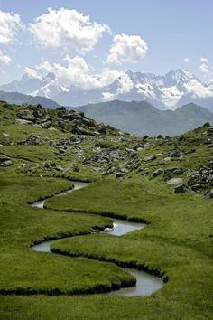 Bisse à Anzère, Valais, Switzerland