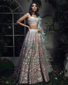 End to End Customization with Hand Embroidery & beautiful Zardosi Art by Expert & Experienced Artist That reflect in Blouse , Lehenga & Sarees Designer creativity that will sunshine You & your Party. Indian Fashion Dresses, Indian Bridal Outfits, Indian Bridal Lehenga, Dress Indian Style, Indian Designer Outfits, Red Lehenga, Lehenga Choli, Sarees, Bollywood Lehenga