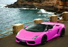 Gallardo LP 560 Spyder: Lamborghini Gallardo Spyder in pink color >> Available in Cote d'Azur, French Alps and Paris! Lamborghini Rental, Lamborghini Gallardo, Ferrari 360, Daddy Gifts, Car Rental, Bugatti, Pink Color, Dream Cars, Luxury