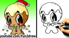How to Draw Christmas Pictures - Candle + Holly Decoration - Fun2draw Easy Cartoons - YouTube