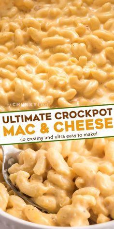 This ultra creamy Mac and Cheese recipe is made right in your slow cooker! Loved by both kids and adults, it's perfect for parties, potlucks, and more! #macandcheese #crockpot #slowcooker Crockpot Mac And Cheese, Best Macaroni And Cheese, Creamy Mac And Cheese, Slow Cooker Recipes, Crockpot Recipes, Cooking Recipes, Cheesy Sauce, Cheese Recipes, Turkey Recipes
