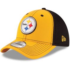 Pittsburgh Steelers New Era Youth Team Front Neo 39THIRTY Flex Hat - Gold/Black - $19.99