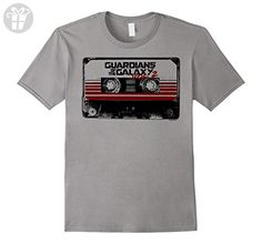 Men's Marvel Guardians of the Galaxy 2 Cassette Graphic T-Shirt XL Slate (*Amazon Partner-Link)