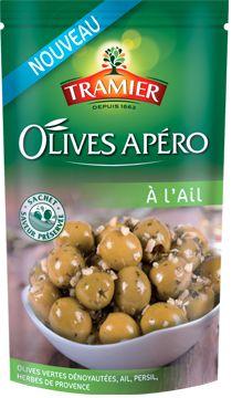 Les olives apéro à l'Ail de Tramier