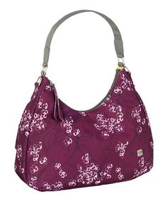 Another great find on #zulily! haiku Aubergine Floral Hobo by haiku #zulilyfinds