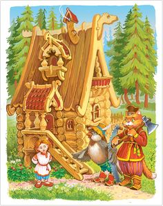 Красочные иллюстрации к русским сказкам Виктора Служаева - Уральский пациент