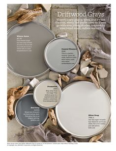 Warm Gray Paint Colors - With tones as varied as driftwood gray and creamy latte, neutrals are anything but boring. Browse our top neutral paint color picks to find the right hue for your rooms. Plus, learn the best tricks for decorating in neutrals. Top Paint Colors, Paint Colors For Great Room, Warm Gray Paint Colors, Gray Beige Paint, Bedroom Paint Colours, Stone Colour Paint, Calming Bedroom Colors, Beach Paint Colors, Shades Of Grey Paint