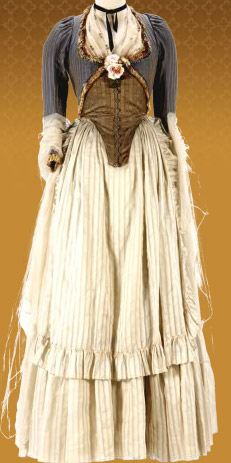 Keira Knightley Victory Dress costume in 'The Duchess', 2008. Late 18th Century Georgian costumes by Michael O'Connor.