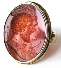 Carnelian Intaglio Ring Carnelian Intaglio Ring
