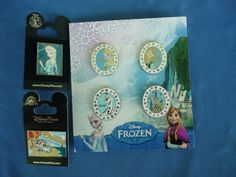 FROZEN Disney  Pin SET of 4   2013  ELSA ANNA OLAF and CASTLE  PLUS 2 MORE PINS #DisneyPinset4_Plus2morepins