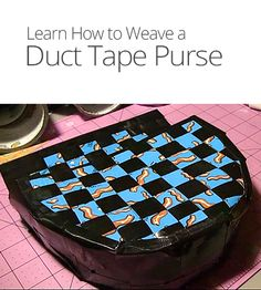 DIY Woven Duct Tape Purse