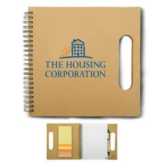 3 working days - A notebook with a heavy duty cover made from recycled paper, 5 colors of stickey note