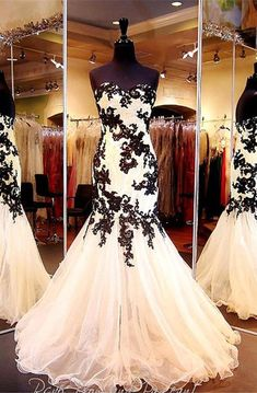 Shop affordable Elegant Sweetheart Black Appliques Evening Dresses 2018 Mermaid Sweetheart Tulle at June Bridals! Over 8000 Chic wedding, bridesmaid, prom dresses & more are on hot sale. Blush Prom Dress, Sequin Prom Dresses, Tulle Prom Dress, Black Wedding Dresses, Homecoming Dresses, Evening Dresses, Bridesmaid Dresses, Biker Wedding Dress, Prom Gowns