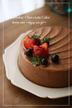 トイロイロ ***happy color life***-バースデイチョコレートケーキ