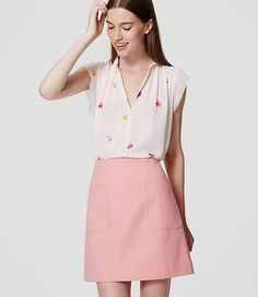 Image of Patch Pocket Shift Skirt