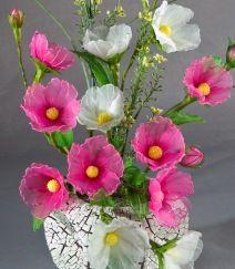 PEONY?  ROSE OF SHARON? FULL TUTORIAL: Blog - Handmade Nylon Flowers And Jewelry