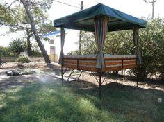denizimiz - Picture of Esralina Pension, Cirali - Tripadvisor Backyard Fort, Turkey Holidays, Outdoor Seating, Landscaping Ideas, Driftwood, Trip Advisor, Gazebo, Outdoor Living, Bbq