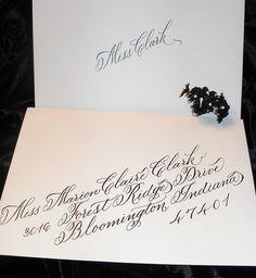 Calligraphy for Wedding Envelope Set by carmelscribe, via Flickr