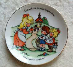 1986+Vintage+Avon+Joan+Walsh+Anglund+Plate+by+LadyLindaLou+on+Etsy,+$8.00