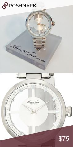 Kenneth Cole Watch Authentic KC clear dial watch, stainless steel. Used. Kenneth Cole Accessories Watches