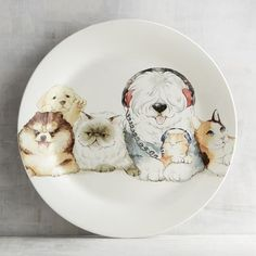 Cats and Dogs Family Salad Plate