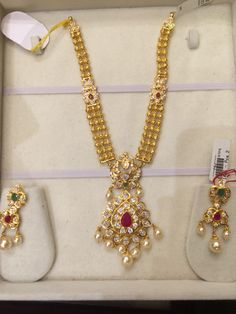 Necklace 45 Gms Gold Chain Design, Gold Jewellery Design, Gold Jhumka Earrings, Gold Jewelry Simple, Jewelry Patterns, Filigree, Wedding Jewelry, Fashion Jewelry, Blouse