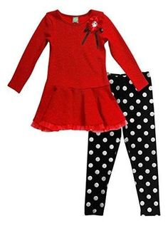784b28cc0 Toddler Outfits, Toddler Girls, Girl Outfits, Baby Kids, Black Tops, Red