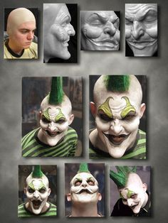 Clown prosthetic makeup by Joe Lester (http://www.imageworksfx.com) SFX prosthetics and accessories
