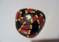 snake painted rock