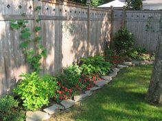 Garden Ideas Along Fence