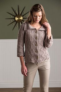 Maria Leigh's Labyrinth Cardigan in Fibra Natura Good Earth.  From Spring/Summer 2015 knit.purl.