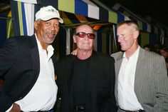 50984497 LOS ANGELES - JUNE 21: Actors Morgan Freeman (L), James Garner and Sam Shepard talk at the ... - Kevin Winter/Getty Images