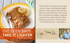 The Deen Bros. Lighter Oven-Roasted Pistachio-Crusted Salmon on PaulaDeen.com