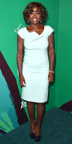 VIOLA DAVIS Sporting the glow of a woman with a megahit show (as well as an Escada sheath and Jacob & Co. statement earrings), the How to Get Away With Murder star smiles big at the Variety Power of Women event in L.A.