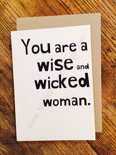 Card #153:  Wise and ...