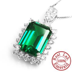 Luxury Jewelry Big Genuine Emerald Pendant For Women Gemstonese - March 02 2019 at Beautiful Gifts, Beautiful Outfits, All About Fashion, Passion For Fashion, Trendy Fashion, Fashion Beauty, Women's Fashion, Dresser, Fashion Accessories