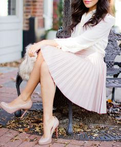love the skirt and pumps