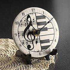 Clocks – Decor : Ceramic Musical Clock – my heart just skipped a beat -Read More –