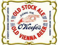 Image of O'Keefe's Beer Sweatshirt, Tee Shirt, BBQ Apron, Iron-on - Waterloo, Ontario, Canada Waterloo Ontario, Bbq Apron, O Canada, Brewing, Ale, Tee Shirts, Vanity, Sweatshirt, Iron