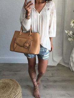 V-Neck Patchwork Hollow Out Plain Shirts&blouse for women casual blouse for women work blouse for women chic blouse for women summer Plain Shirts, Beautiful Blouses, Fashion Outfits, Womens Fashion, Chiffon Tops, Blouses For Women, Collection, Work Blouse, Blouse Outfit