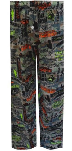Fishing Phrases Camo Lounge Pants