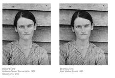 """Résultat de recherche d'images pour """"sherrie levine after walker evans"""""""