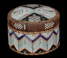 Native American Art | Porcupine Quill & Birch Bark Basket | Weaving Collectives...