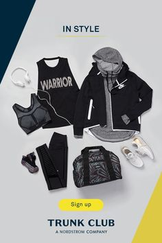 Show off your personal style in activewear that makes you feel confident and motivated. Your stylist can get you the right gear for any type of workout. Sign up at TrunkClub.com today.