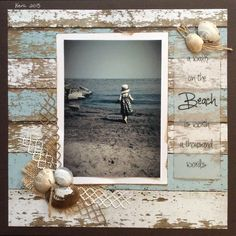 A walk on the beach is worth a thousand words - Scrapbook.com #scrapbooking101 #scrapbooktips #vacationscrapbook
